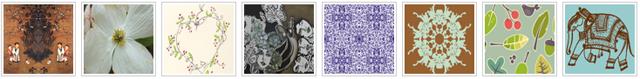Example fabrics from spoonflower.com