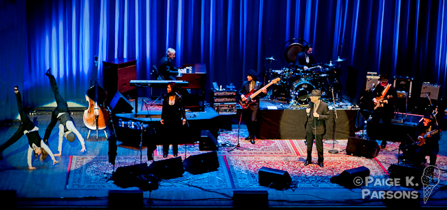 Leonard Cohen performs at the second of three sold out shows at The Paramount Theater in Oakland, CA.